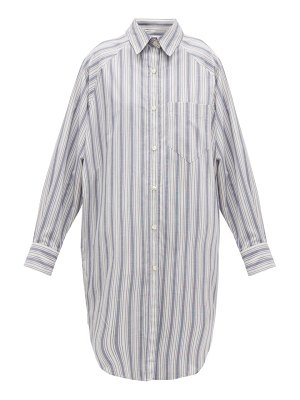 Etoile Isabel Marant sanders striped cotton shirt dress