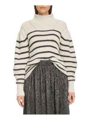 Etoile Isabel Marant georgia stripe mock neck sweater