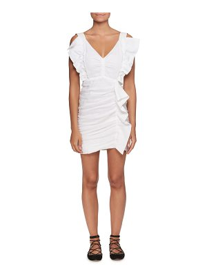 Etoile Isabel Marant Topaz V-Neck Sleeveless Ruched Short Dress