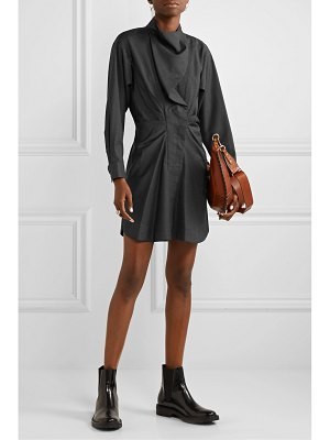 Etoile Isabel Marant valentine ruched prince of wales checked wool mini dress
