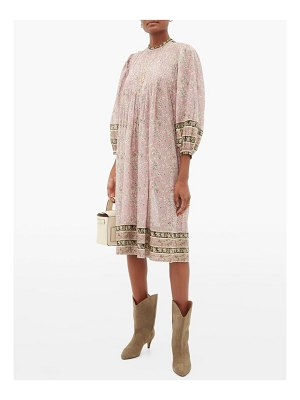 Etoile Isabel Marant vanille pintucked floral-print cotton dress