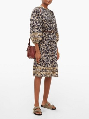 Etoile Isabel Marant vanille floral-print pintuck pleated dress