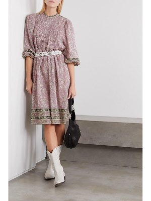 Etoile Isabel Marant vanille pintucked floral-print cotton-voile midi dress