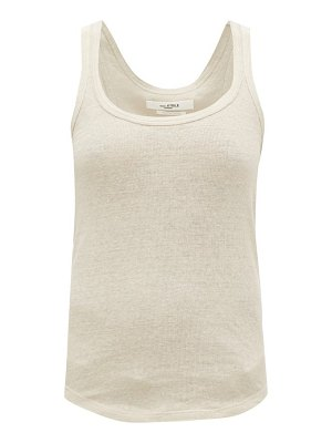 Etoile Isabel Marant vickyo ribbed-linen tank top