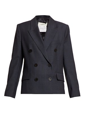 Etoile Isabel Marant visby double breasted checked wool blazer