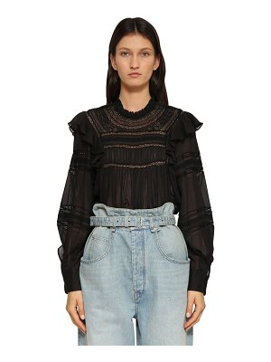 Etoile Isabel Marant Viviana ruffled cotton shirt