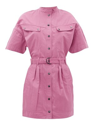 Etoile Isabel Marant zolina belted cotton-canvas shirtdress