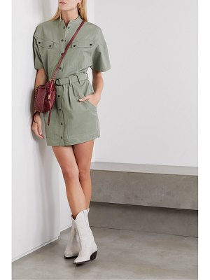 Etoile Isabel Marant zolina belted cotton mini dress