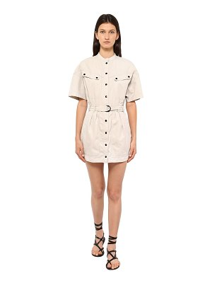 Etoile Isabel Marant Zolina light canvas mini dress