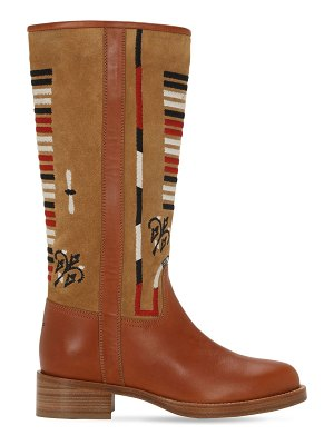Etro 20mm embroidered leather tall boots