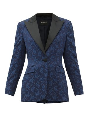 Etro acacia single-breasted floral-jacquard jacket