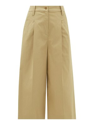 Etro alyssa cropped stretch-cotton culottes
