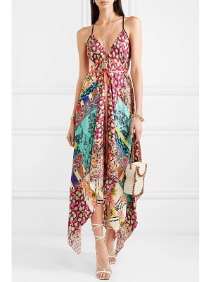 Etro asymmetric printed silk crepe de chine dress