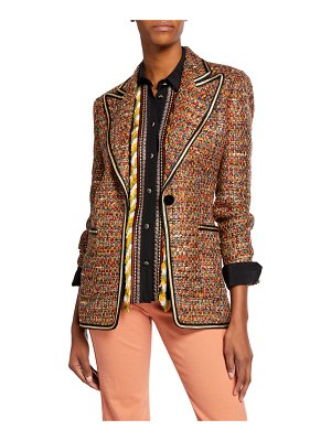 Etro Braid-Trimmed Tweed Jacket