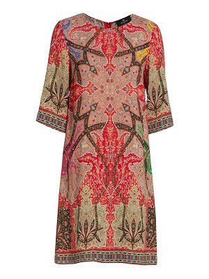 Etro campiero printed shift dress