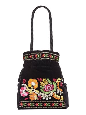 Etro Chatelaine Floral Embroidered Clutch Bag