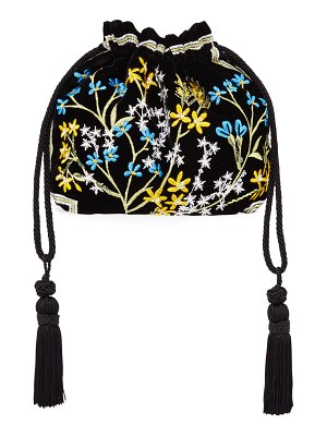 Etro Chatelaine Ricamo Embroidered Velvet Clutch Bag