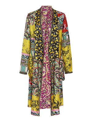 Etro chesire printed silk jacket