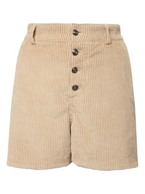 Etro Cotton corduroy shorts w/ printed lining