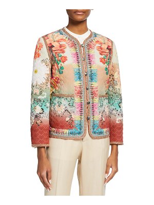 Etro Cropped Quilted Jacket