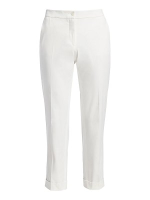 Etro cropped stretch-cotton trousers