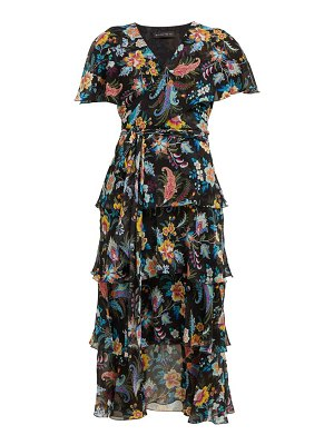 Etro cumbria floral print silk chiffon midi dress