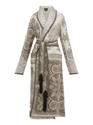 Etro derby paisley print quilted satin robe coat