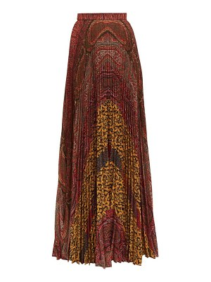 Etro devon pleated paisley print maxi skirt