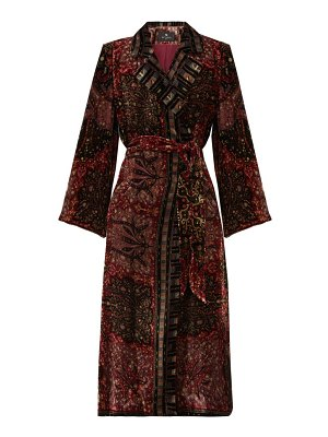 Etro dole double-breasted floral-velvet coat