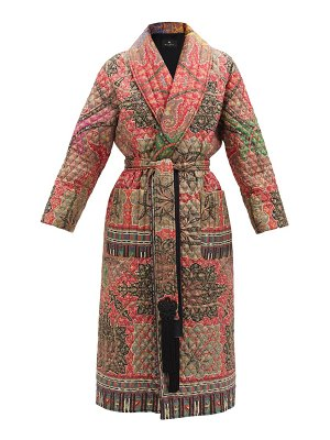 Etro don belted paisley-print quilted silk jacket