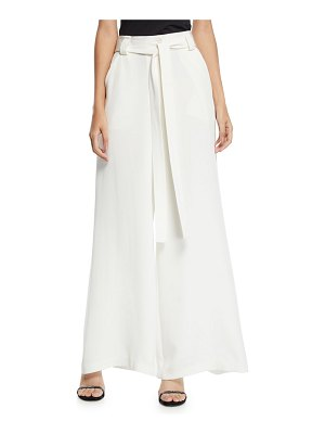 Etro Draped Tie-Waist Wide-Leg Silk Pants
