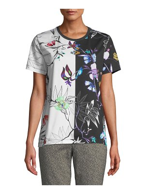 Etro Embroidered Short-Sleeve Tropical-Floral T-Shirt