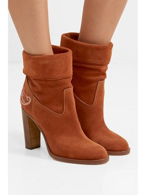 Etro embroidered suede ankle boots