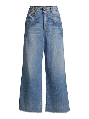 Etro embroidered wide-leg jeans