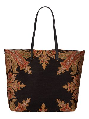 Etro Embroidery Fabric Tote Bag