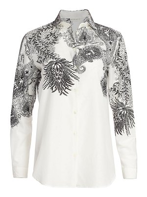 Etro fern paisley print button down shirt