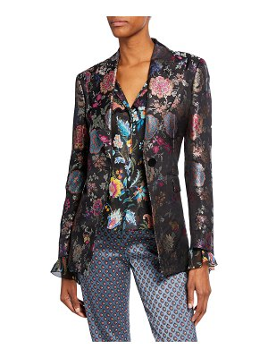 Etro Floral Brocade Fitted Blazer
