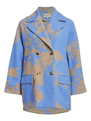 Etro floral double-breasted cocoon coat
