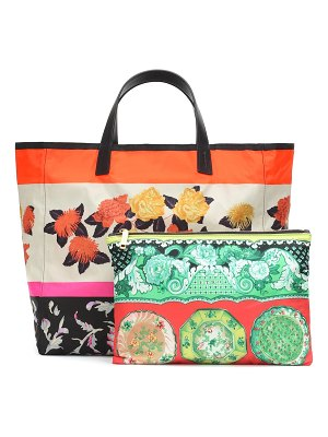Etro floral packable tote bag