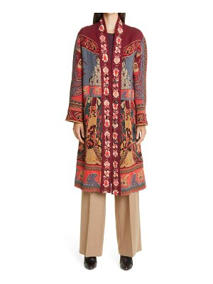 Etro floral paisley metallic long cardigan