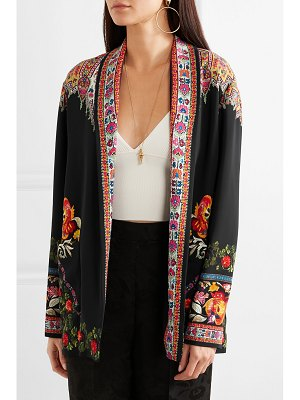 Etro floral-print twill-trimmed cady jacket