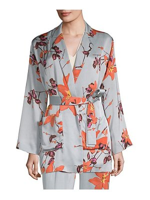 Etro floral satin robe jacket