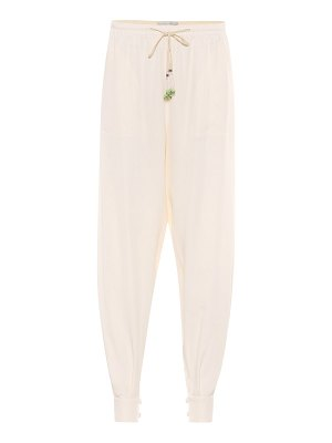 Etro high-rise tapered silk pants