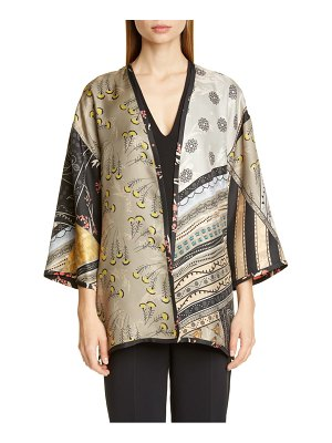 Etro kesa reversible mixed floral print silk jacket