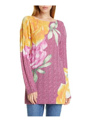 Etro metallic floral cable knit sweater