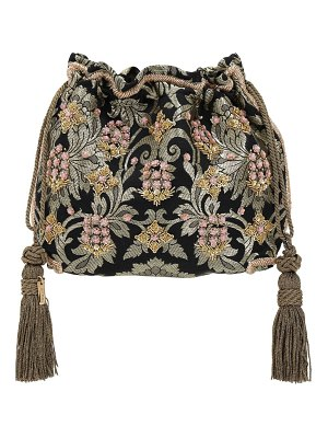 Etro Mini embroidered velvet clutch