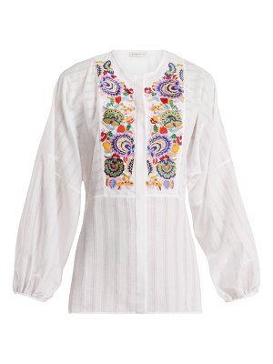 Etro mira floral embroidered blouse