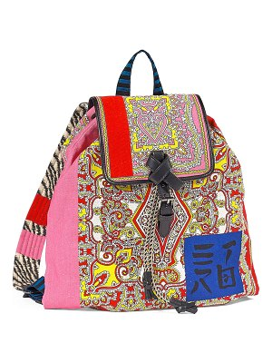 Etro Multi-Brocade Drawstring Backpack