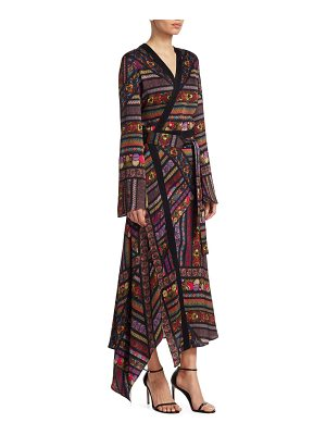 Etro multi-ribbon wrap maxi dress