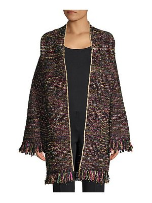 Etro multi-tweed knit coat